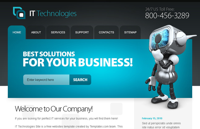 Home Home Page Design Company Free Website Template